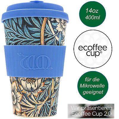 Bambus e-Coffee to Go Becher 400ml Lilly Kaffe-Becher Trink-Becher Bamboo Cup