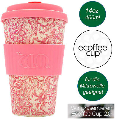 Bambus e-Coffee to Go Becher 400ml Poppy Kaffe-Becher Trink-Becher Bamboo Cup