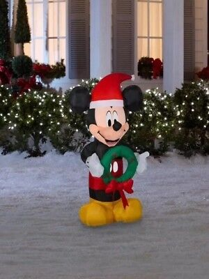 pre lit disney christmas mickey mouse inflatable blow up holiday yard decor