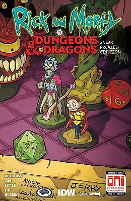 Rick and Morty vs Dungeons and Dragons #1 Sneak Preview Oni GenCon Exclusive HTF