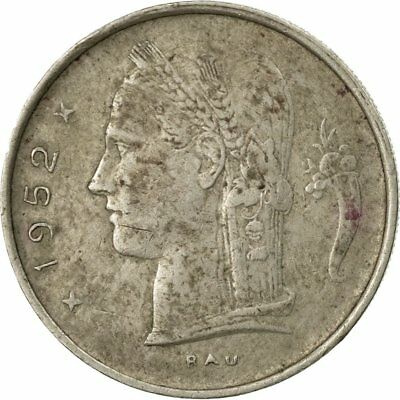 [#535686] Monnaie, Belgique, Franc, 1952, B+, Copper-nickel, KM:143.1