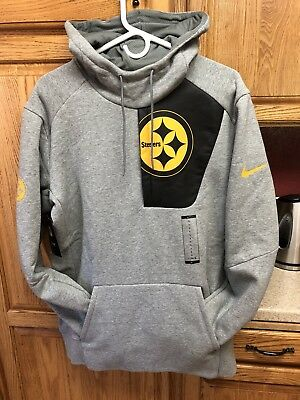 858bbb00a Nike NFL 2017 Pittsburgh Steelers Fly Fleece Pullover Pocket Logo Football  NEW L