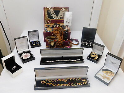 Job Lot of Vintage & Modern Jewellery Incl. Vendome Necklace, Liberty Bangle