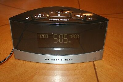 The Sharper Image Digital Alarm Clock W 20 Nature Sounds Model No