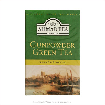 Ahmad Gunpowder Loose Green Tea 4 boxes of 100g    Free UK Delivery