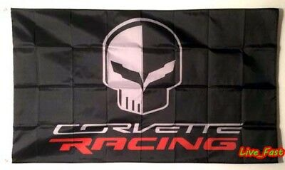 C7 Corvette Jake Skull Flag Banner 3X5 Stingray Z51 Z06 Zr1 Grand Sport