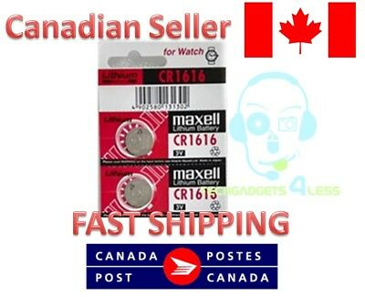 OEM MAXELL CR1616 DL1616 1616 Batteries lithium coin battery - 2 Pcs