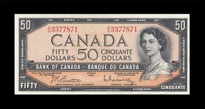 1954 BANK OF CANADA QEII $50 **Beattie & Rasminsky** (( aUNC ))