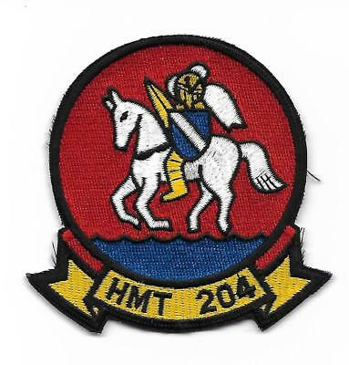USMC HMT-204 WHITE KNIGHTS patch CH-46 SEAKNIGHT MEDIUM HELICOPTER TRAINING SQN