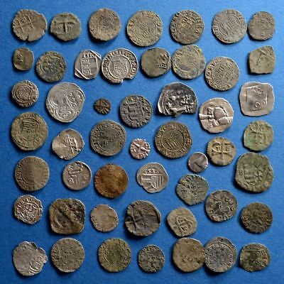 Lot of 50 Medieval Dark Ages Silver and Bronze Coins #2