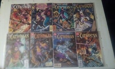 CATWOMAN x 8 ISSUES LOT. DC COMICS.