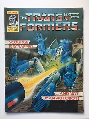 Transformers Marvel UK comics: job lot of issues 83, 84, 85, 86 from 1986