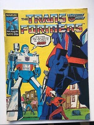 Transformers Marvel UK comics: job lot of issues 73, 74, 75, 76, 77 from 1986