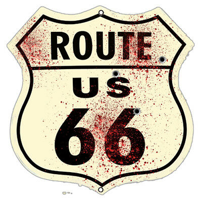 Route 66 US Laser Cut Out Silhouette Wall Art Metal Sign 16x16