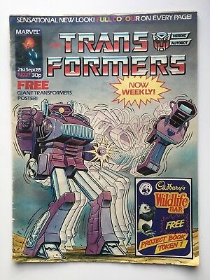 Transformers Marvel UK comics: job lot of issues 27, 29, 32, 33, 34 from 1985