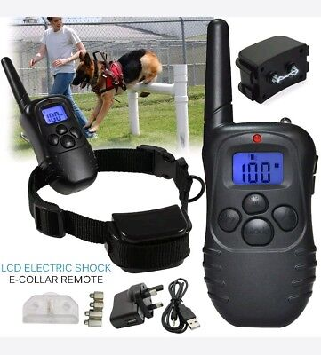 Rechargeable LCD Electric Shock E-Collar Remote Control for Dog /pet Training n