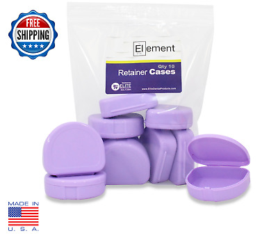 Element RETAINER CASES 10 Pack LAVENDER Invisalign Orthodontic Nightguard