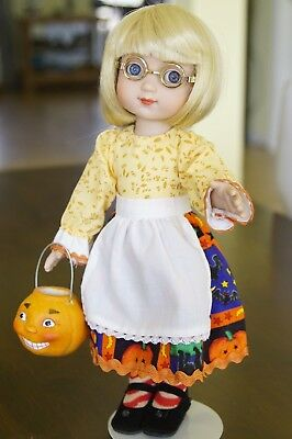ANN ESTELLE Trick or Treat Tonner doll with pumpkin pail (missing hat & cape)