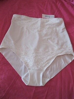 NEW M&S Ladies High Waist Cincher Firm Control Shaping Briefs Plus Size 24 Ivory