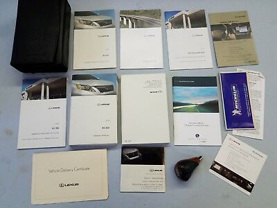10 2010 Lexus RX350 Owners Owner's Manual Books & OEM Shift Knob