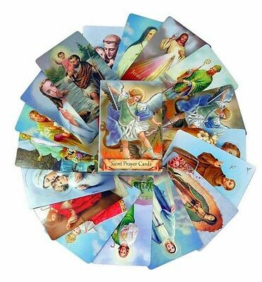 Pack of 54 Assorted Holy Cards with Catholic Saints and Prayers Individual PS744