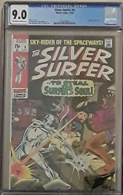 Silver Surfer #9  October 1969 CGC 9.0 OW/W Pages Mephisto Appearance