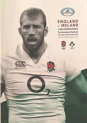 ENGLAND v IRELAND 2015 RUGBY WORLD CUP WARM-UP PROGRAMME QBE International