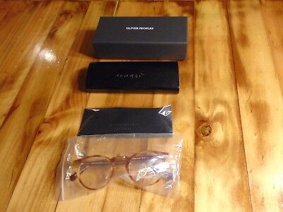 Genuine Oliver Peoples glasses amber Vintage Oval OV5186 size 45 GREGORY PECK