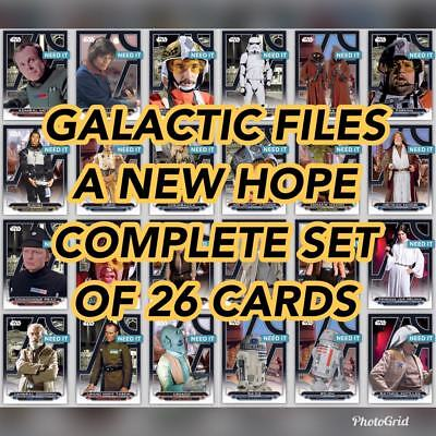 STAR WARS A NEW HOPE GALACTIC FILES COMPLETE SET + MELD AWARD Star Wars Digital