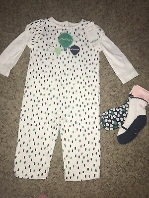 Infant Girl's NWT Gymboree Outfit & Matching Socks Size 6-12 Months Hot Air Ball