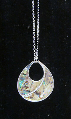 Vintage enameled pendant with 20 inch chain
