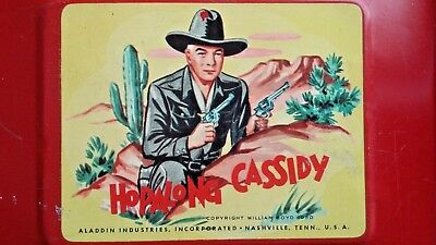 Vintage 1950 Red Hopalong Cassidy Metal Lunchbox