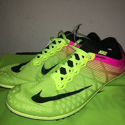 314ca916a662 NIKE ZOOM MAMBA 3 OC Running Track SPIKES 882015-999 Men Size 11 ...