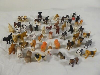 Safari Dog Figure Large Lot of 54 dogs  Hood Hounds, one Schleich, miniature