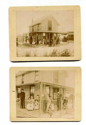 Lot of Two (2) 1800's Cabinet Photos of Parris Island, SC Cottage-Named Family