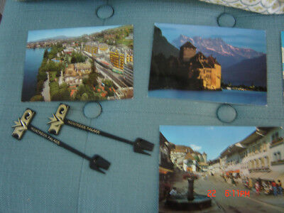 Montreux Palace Lot and Vintage Swissair Airlines Menu - Kurt Wirth