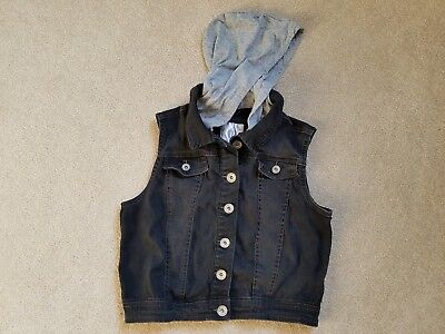 3d83368620 JUSTICE FOR GIRLS Size 6 7 Denim Vest Jean with Jewels -  5.00 ...