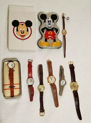 Lot of 7 Disney Mickey Mouse Winnie the pooh watches