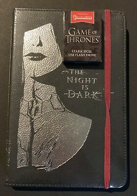 LOOT CRATE Game of Thrones Lined Journal/Diary & 4 GB USB Drive EXCLUSIVES