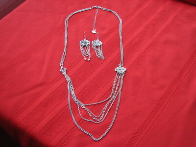 2014  Harley Davidson Necklace & Matching Earrings 97638-15VW & 97640-15VW