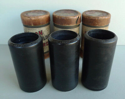 Lot 3 patriotic My Country Tis of Thee National Airs brown wax record cylinders