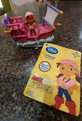 Disney Store Jake and the Never Land Pirates Izzy Pullback Retractable Figure