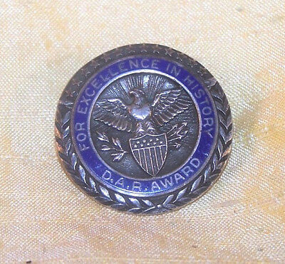 VINTAGE Daughters of the American Revolution sterling History Excellence pin DAR