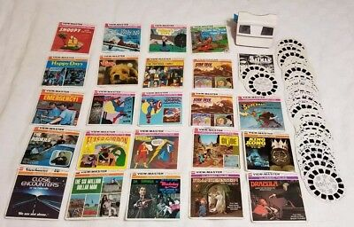 Vintage viewmaster and Reel lot Of 23 complete + extra Dr.shrinker Gi Joe...