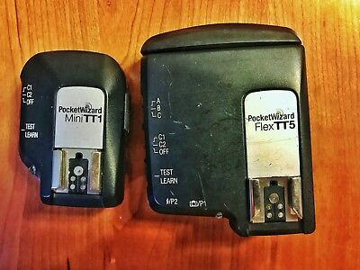 Pocket Wizard Mini TT1 and Flex TT5 for Canon SET + Flash Sync Cable