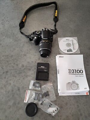 Nikon D D3100 14.2MP Digital SLR Camera - Black (Kit w/ VR 18-55mm Lens)
