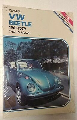 Volkswagen VW Beetle & Ghia 1961-1979 Clymer Shop Service Manual (Brand New)