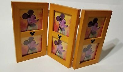 Disney Wood Frame Mickey Mouse Minnie Mouse Pluto Donald Duck Goofy