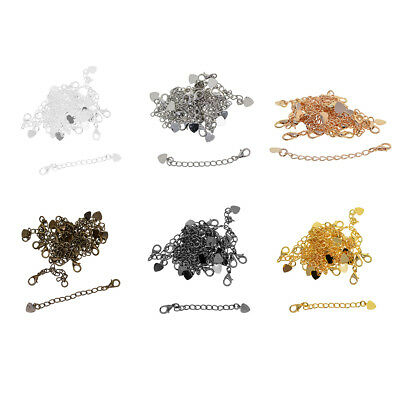 20Pc Plated Bracelet Necklace Chain Extenders Lobster Clasp Jewelry Findings