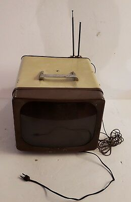 1950s GE General Electric Television Portable Model 14T018 Vintage Electronics
